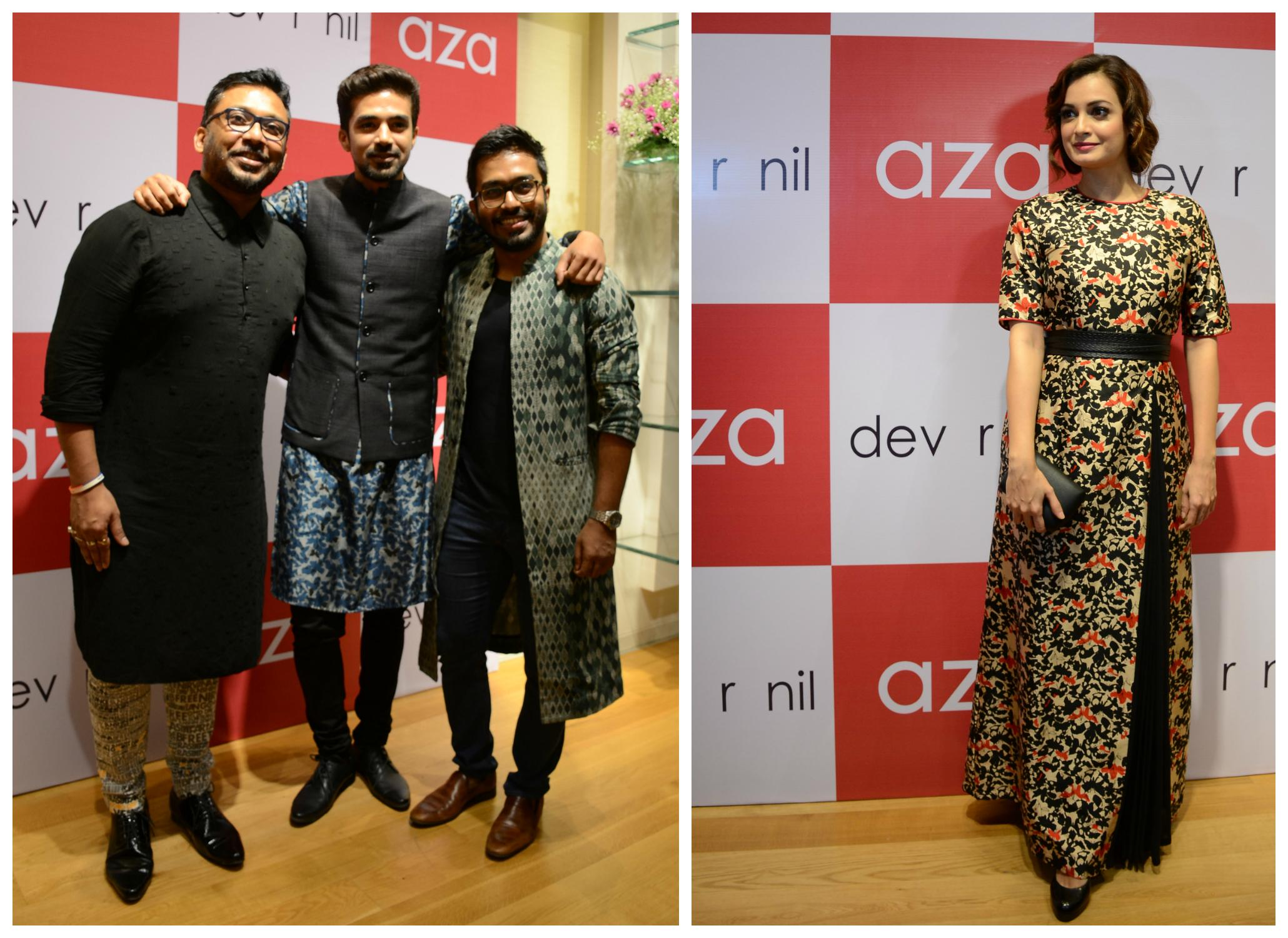 371e8c06dd6ab0 An exclusive preview of Dev R Nil's festive luxury pret' line was hosted at  Aza's Bandra store where the designer duo showcased their Autumn Winter ...